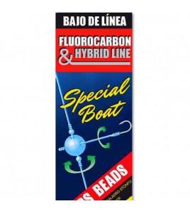 Terminale Bolentino Fluorocarbon 2 Ami Sparidi Amo CHINU 2 MM 0,40-0,35