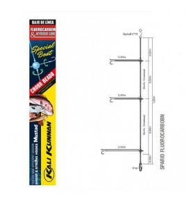 Terminale Bolentino Competizione Fluorocarbon 3 Ami Rock Amo FURANSU 1 MM 0,40-0,30