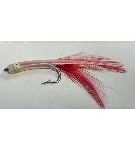 Artificiale Silicone Tuna Killer Clear Rosso cm 8