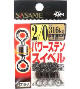Girella SASAME POWER STAIN SWIVEL N°2/0 KG 316 Black