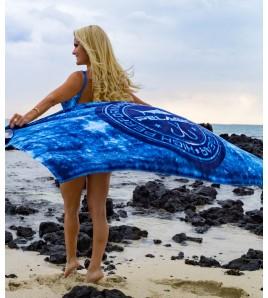 ASCIUGAMANO BLUE HEX CIRCLE LOGO TOWEL 100 X 200