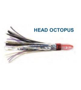 Artificiale head Octopus Argento Nero cm 10 Gr 10