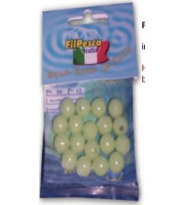 Perline TONDE HARD Fluo Luminor 13 mm Foro da 4,0 mm 20 PZ