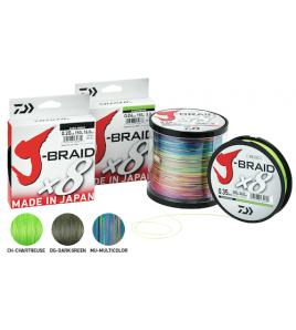 Trecciato DAIWA J-BRAID X8 0,22 MM Colore CH - CHARTREUSE 300 MT 37,5 LB 17 KG