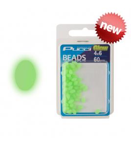 Perline PUCCI SOFT GREEN GLOW BEADS OVALI 7 x 10 MM 36 PZ
