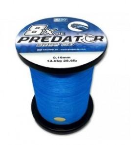 ASSO PE 8X PREDATOR 16 MM 28,6 LB PE 2,5 TRECCIATO BLUE MT 3000