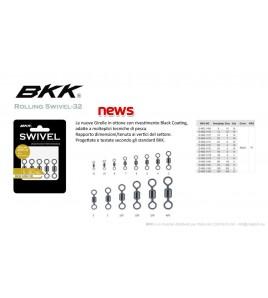 GIRELLA BKK Rolling Swivel-32 Black n 2/0 KG 75