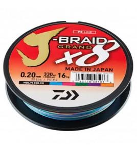 Trecciato DAIWA J-BRAID GRAND X8 0,28 MM Colore MULTI 300 MT LB 58 LB 26 KG