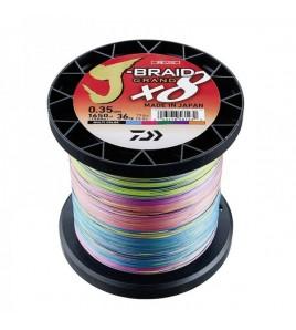 Trecciato DAIWA J-BRAID GRAND X8 0,42 MM Colore MULTI 1500 MT LB 103 LB 46,5 KG