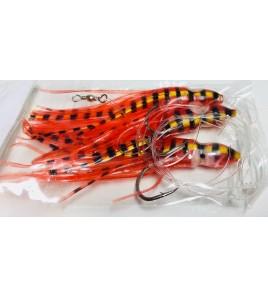 Filosa 3 Polpetti Armati Octopus Squid 10 cm Colore Red Tiger