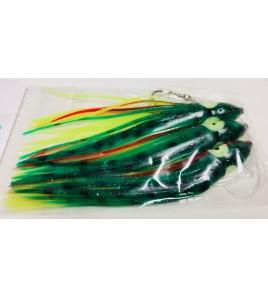 Filosa 3 Polpetti Armati Octopus Squid 10 cm Colore Verde