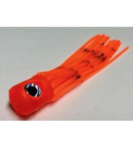 Kona per la Pesca a Pitch Marlin o Vela Testa Piatta Morbida Cm 14 Colore Arancio