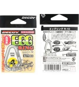 Split Ring Vertical Decoy R-10 EGG RING Confezione 12 pezzi Misura 4 LB 100
