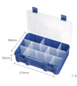 Cassettina BOX MAX 003 T MM 274x188 H 50 SEMI IMPERMEABILE