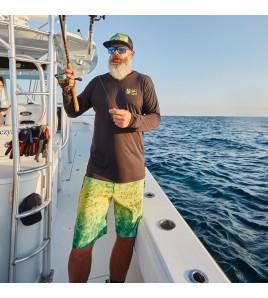 PANTALONCINO PELAGIC BLUE WATER FISHING SHORTS GREEN DORADO HEX